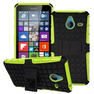 Силиконовый чехол экстрим защита для Microsoft Lumia 640 XL Зеленый