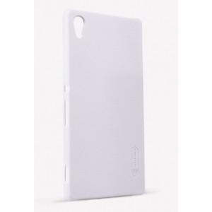 Пластиковый матовый нескользящий премиум чехол для Sony Xperia Z3+ Белый