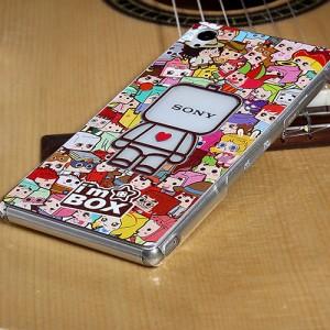 Пластиковый матовый дизайнерский чехол с объемно-рельефным УФ-принтом для Sony Xperia Z3+