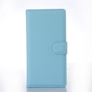 Чехол портмоне подставка с защелкой для Sony Xperia Z3+ Голубой