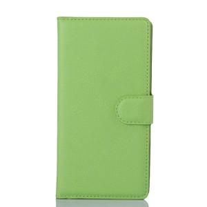Чехол портмоне подставка с защелкой для Sony Xperia Z3+ Зеленый