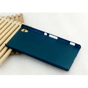 Пластиковый матовый Металлик чехол для Sony Xperia Z3+ Зеленый