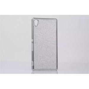 Пластиковый матовый чехол текстура Золото для Sony Xperia Z3+ Белый