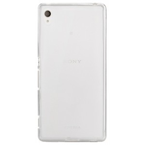 Силиконовый матовый полупрозрачный чехол для Sony Xperia Z3+ Белый