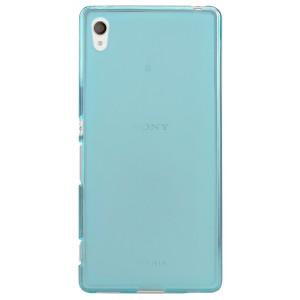 Силиконовый матовый полупрозрачный чехол для Sony Xperia Z3+ Голубой