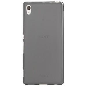 Силиконовый матовый полупрозрачный чехол для Sony Xperia Z3+ Черный