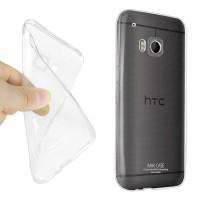 Силиконовый транспарентный чехол для HTC One M9