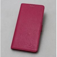 Кожаный чехол горизонтальная книжка (нат. кожа) с магнитной застежкой для Lenovo Vibe Z2 Пурпурный