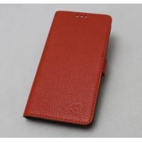 Кожаный чехол горизонтальная книжка (нат. кожа) с магнитной застежкой для Lenovo Vibe Z2 Оранжевый