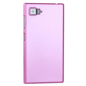 Пластиковый матовый чехол Металлик для Lenovo Vibe Z2 Розовый