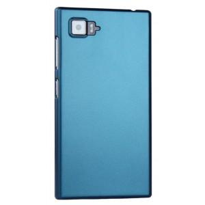 Пластиковый матовый чехол Металлик для Lenovo Vibe Z2 Голубой