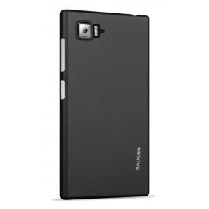 Пластиковый матовый непрозрачный чехол для Lenovo Vibe Z2 Черный