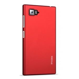 Пластиковый матовый непрозрачный чехол для Lenovo Vibe Z2 Красный