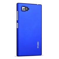 Пластиковый матовый непрозрачный чехол для Lenovo Vibe Z2 Синий