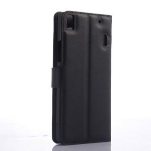 Чехол портмоне подставка с защелкой для Lenovo A7000 Черный