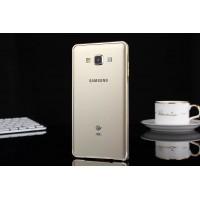 Металлический бампер для Samsung Galaxy E5 Белый