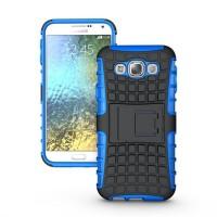 Силиконовый чехол экстрим защита для Samsung Galaxy E5 Синий