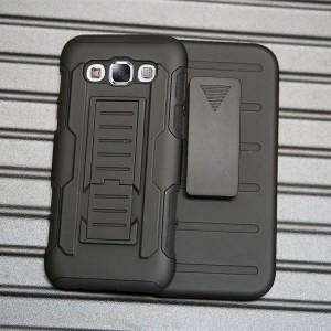 Антиударный силиконовый чехол с поликарбонатной крышкой и ножкой-подставкой для Samsung Galaxy E5