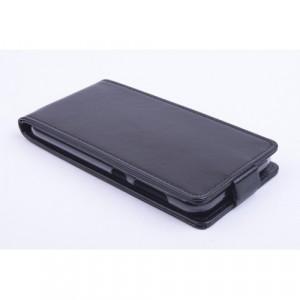 Чехол вертикальная книжка на силиконовой основе с магнитной застежкой для ZTE Blade S6/S6 Lite Черный