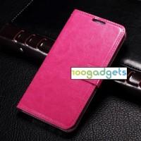 Чехол портмоне подставка с защелкой для Samsung Galaxy E5 Пурпурный