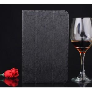 Текстурный сегментарный чехол подставка с рамочной защитой экрана для Huawei MediaPad T1 8.0 Черный