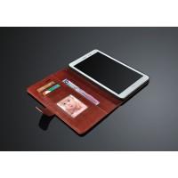 Кожаный чехол подставка с внутренними отсеками на поликарбонатной основе для Huawei MediaPad T1 8.0