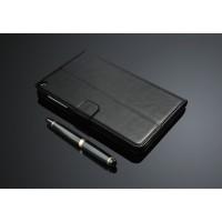 Кожаный чехол подставка с внутренними отсеками на поликарбонатной основе для Huawei MediaPad T1 8.0 Черный