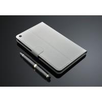 Кожаный чехол подставка с внутренними отсеками на поликарбонатной основе для Huawei MediaPad T1 8.0 Белый