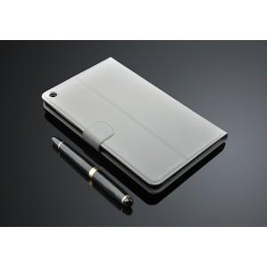 Кожаный чехол подставка с внутренними отсеками для карт для Huawei MediaPad T1 8.0 Белый