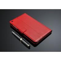 Кожаный чехол подставка с внутренними отсеками на поликарбонатной основе для Huawei MediaPad T1 8.0 Красный