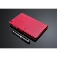 Кожаный чехол подставка с внутренними отсеками на поликарбонатной основе для Huawei MediaPad T1 8.0 Пурпурный