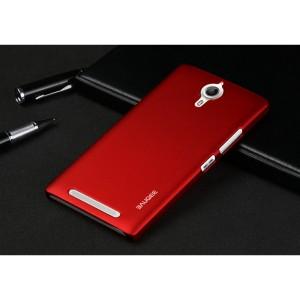 Пластиковый матовый непрозрачный чехол для Lenovo P90 Красный