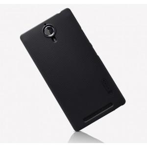 Пластиковый матовый нескользящий премиум чехол для Lenovo P90 Черный