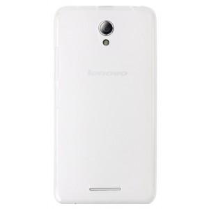Силиконовый матовый полупрозрачный чехол для Lenovo A5000 Белый