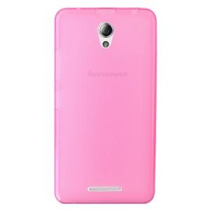 Силиконовый матовый полупрозрачный чехол для Lenovo A5000 Розовый