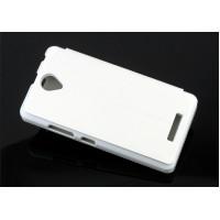 Чехол флип подставка на пластиковой основе для Lenovo A5000 Белый