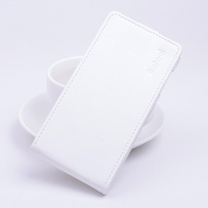 Чехол вертикальная книжка на силиконовой основе с магнитной застежкой для Microsoft Lumia 640 Белый
