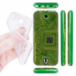 Силиконовый матовый дизайнерский чехол с эксклюзивной серией принтов Microelectronics для Nokia 225 (изготовление на заказ)