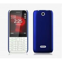 Пластиковый матовый непрозрачный чехол для Nokia 225 Синий