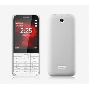 Пластиковый матовый непрозрачный чехол для Nokia 225 Белый
