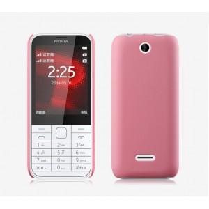 Пластиковый матовый непрозрачный чехол для Nokia 225 Розовый