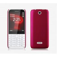 Пластиковый матовый непрозрачный чехол для Nokia 225 Пурпурный