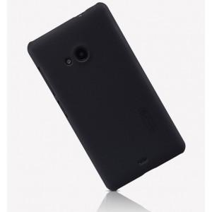 Пластиковый матовый нескользящий премиум чехол для Microsoft Lumia 540 Черный