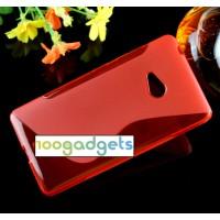 Силиконовый S чехол для Microsoft Lumia 540 Красный