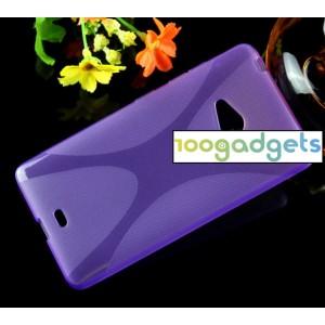 Силиконовый X чехол для Microsoft Lumia 540 Фиолетовый