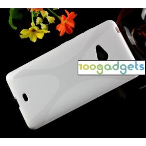 Силиконовый X чехол для Microsoft Lumia 540 Белый