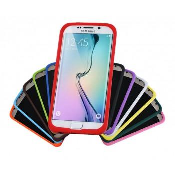 Силиконовый матовый софт-тач премиум чехол для Samsung Galaxy S6 Edge