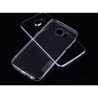 Силиконовый матовый полупрозрачный чехол повышенной ударостойкости с нескользящими гранями и защитными клапанами разъемов для Samsung Galaxy S6 Edge Белый