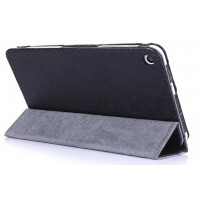 Текстурный сегментарный чехол подставка с рамочной защитой для Huawei MediaPad T1 7.0/T2 7.0 Черный