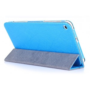 Текстурный сегментарный чехол подставка с рамочной защитой для Huawei MediaPad T1 7.0/T2 7.0 Голубой